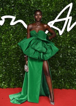 2019 1203 C CLS Fashion Awards 2019 Adut Akech in Valentino