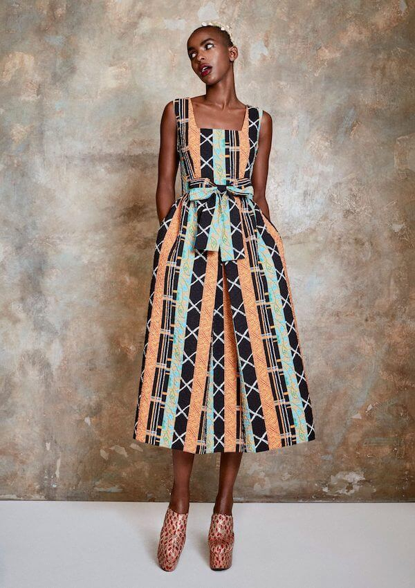Emma Amos Art Prints Paint Pretty Portraits In Duro Olowu SS21 Collection